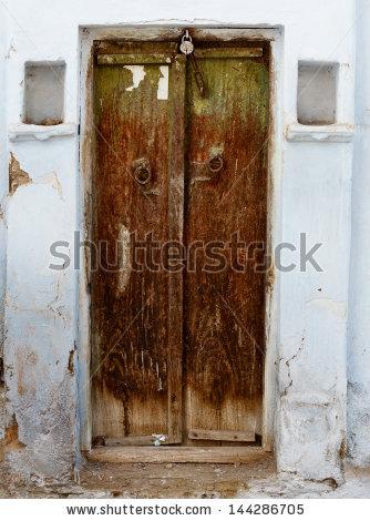 Rotten Door Stone Stock Photos, Royalty.