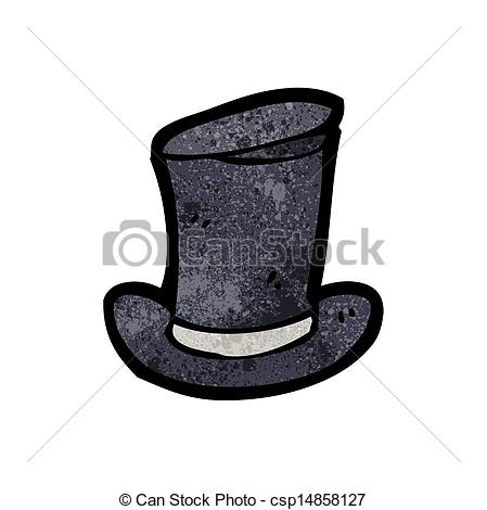 Vector Illustration of cartoon old top hat csp14858127.