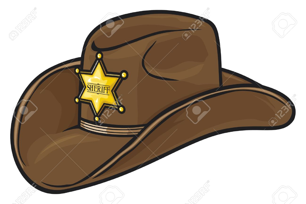Sheriff hat clipart.
