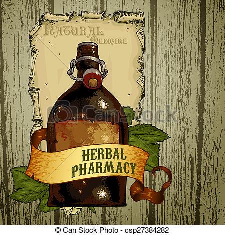 Stock Illustration of natural herbs.