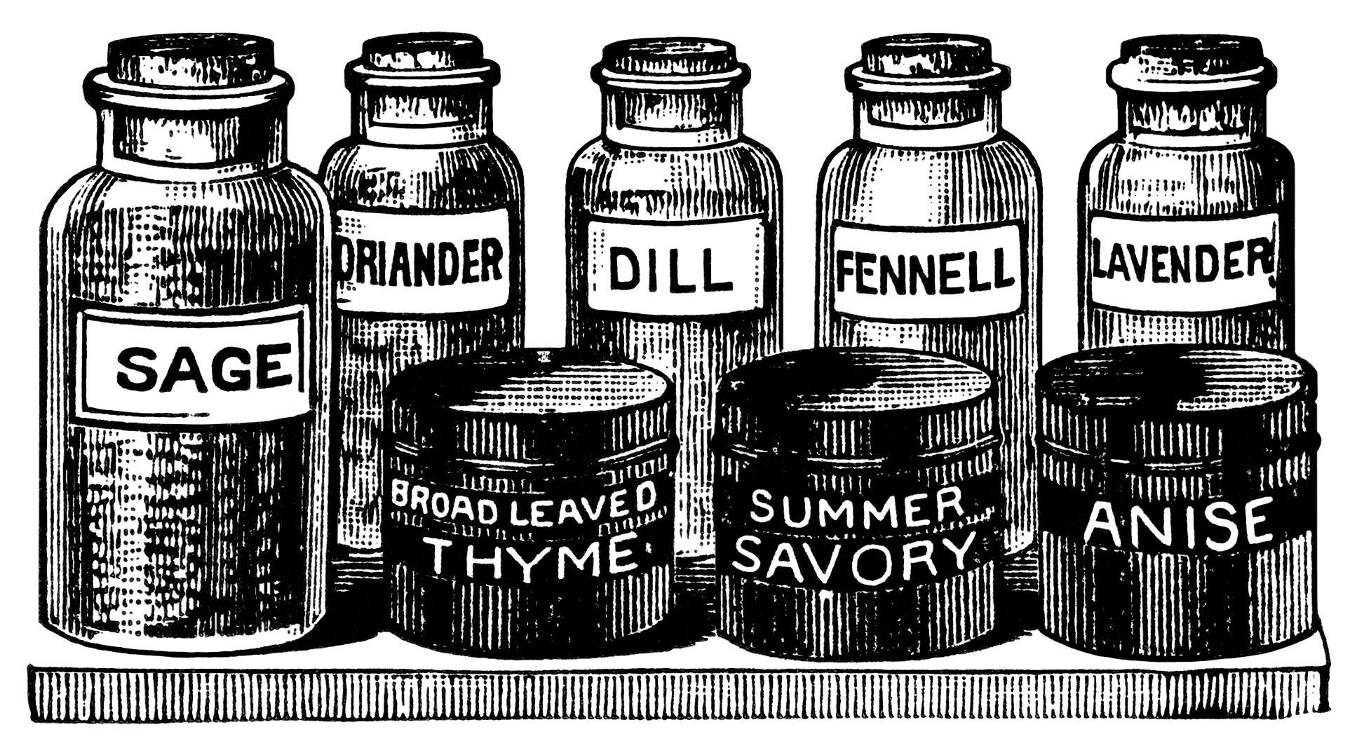 Similiar Black And White Herbs Keywords.