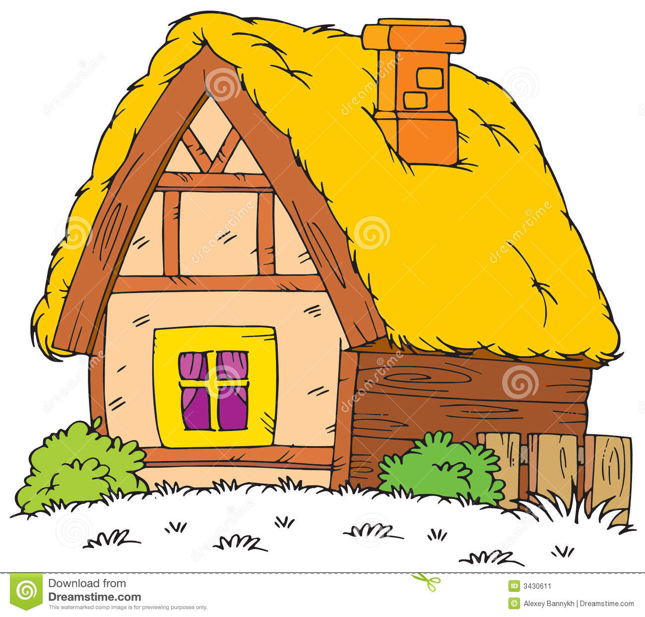 Old houses clipart.