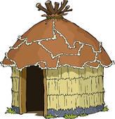 Clip Art of old hut k18307659.