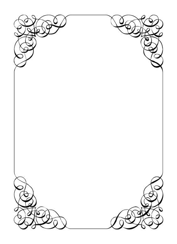 Wedding border clipart vector templates.