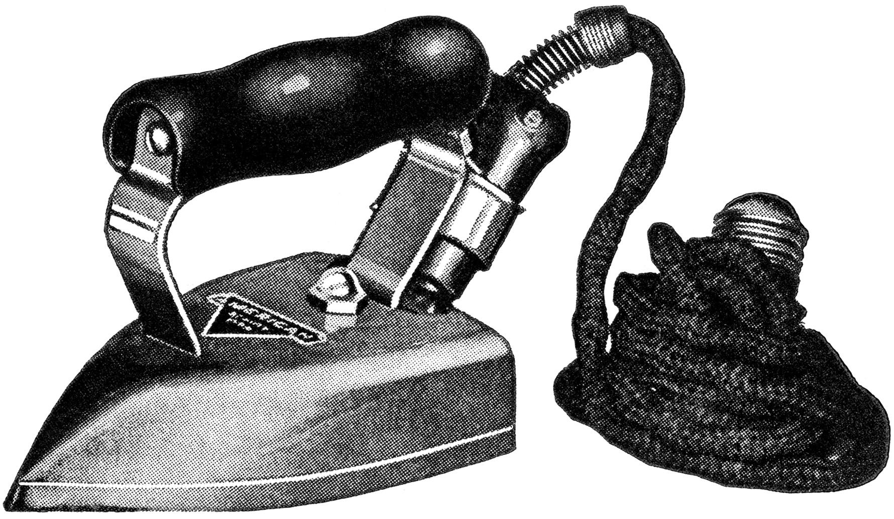 Antique Clothes Iron Clipart.