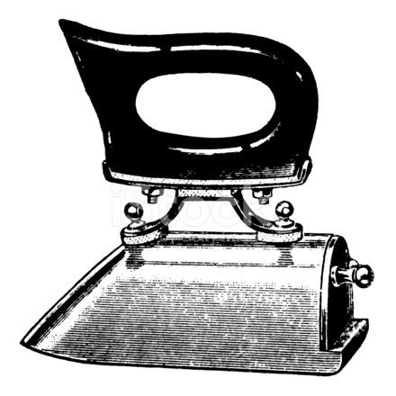 Vintage iron clipart.