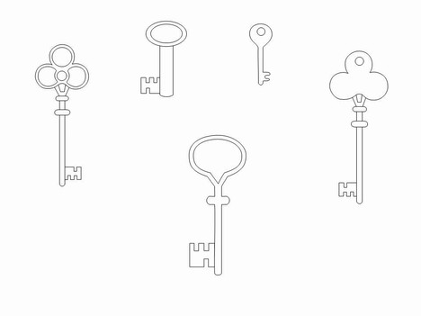 Old Key Outline Clipart Clipground
