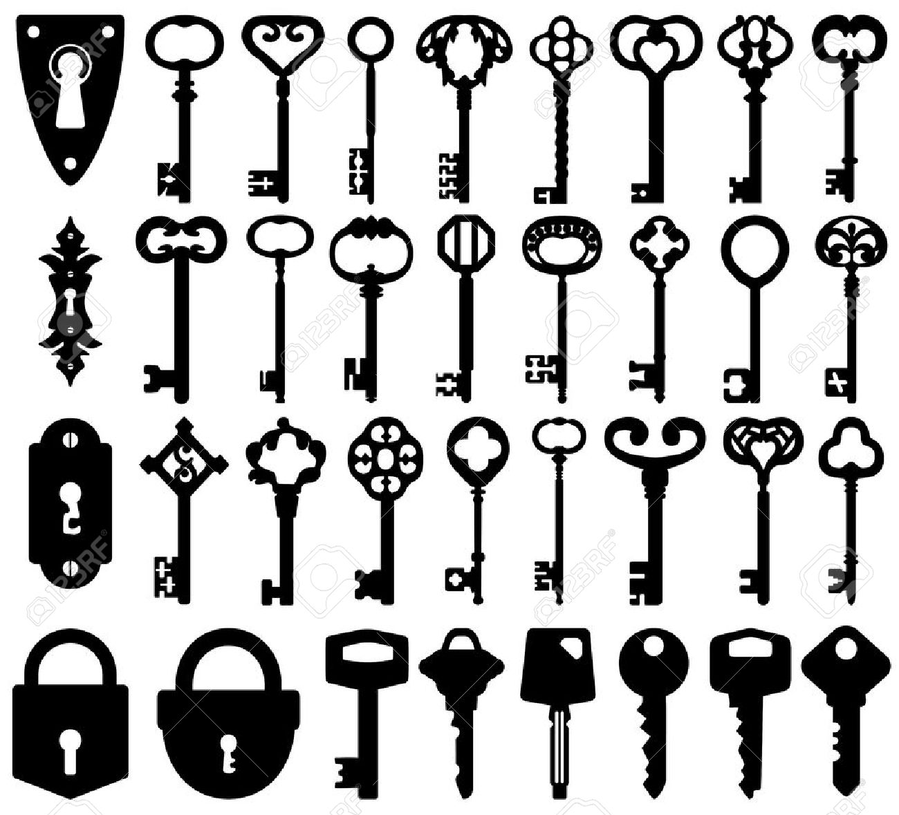 1,985 Skeleton Key Stock Illustrations, Cliparts And Royalty Free.