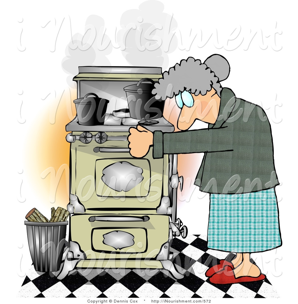 Old Stove Clipart.
