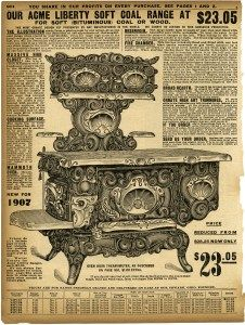 vintage stove clipart, black and white clip art, sears roebuck.