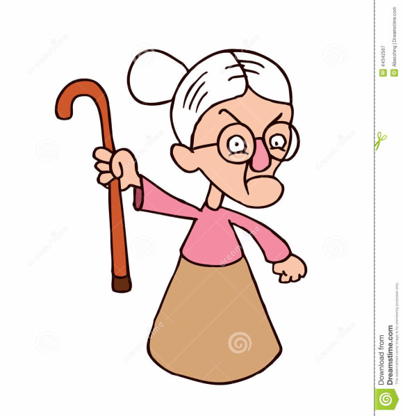Grumpy Old Lady Clipart.