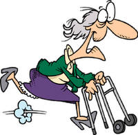 Funny Old Lady Clipart.
