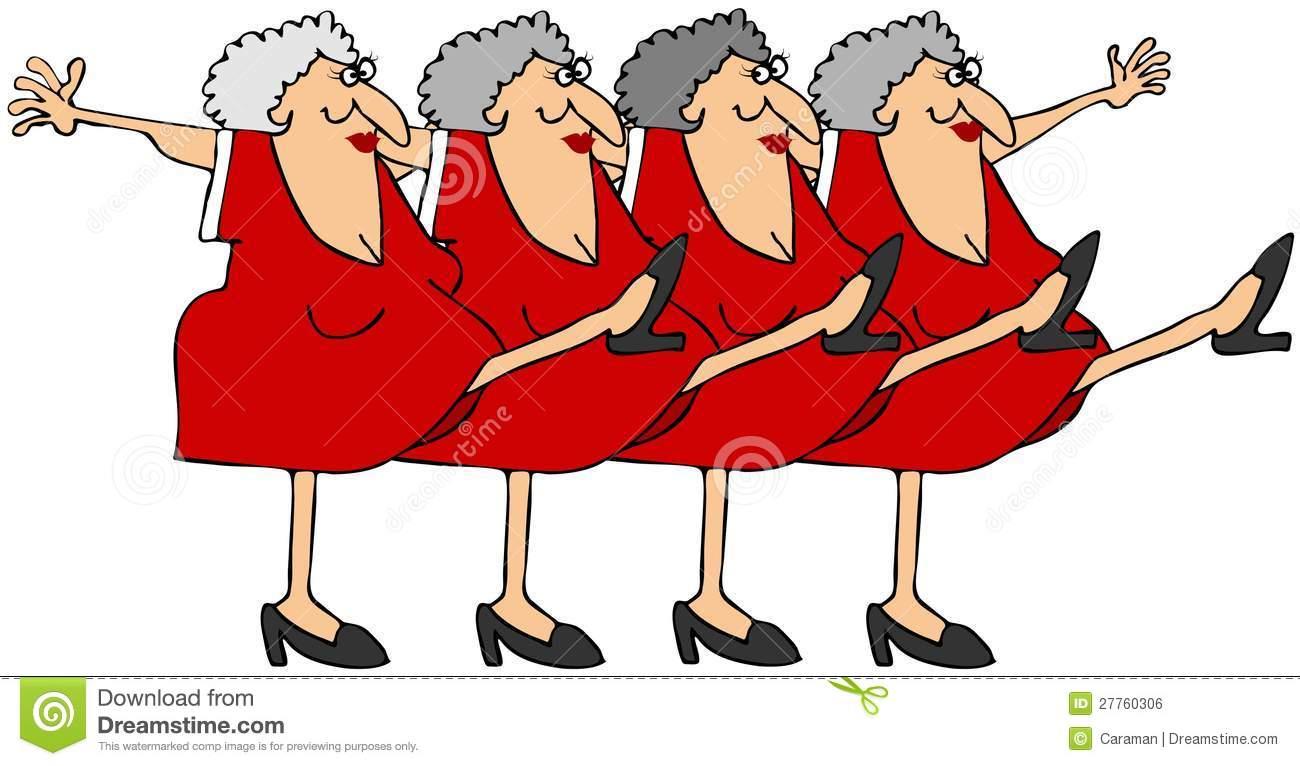 Old Ladies Dancing Clipart.
