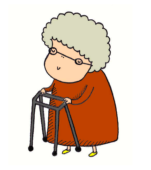 Old lady with walker clipart 6 » Clipart Station.