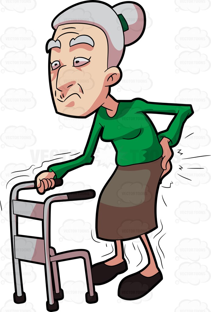 Cartoon Old Woman Clipart.