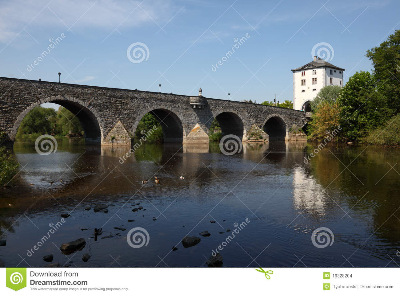Bridge In Limburg, Germany Stock Images.