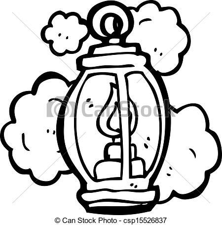 Vectors of old lantern cartoon csp15526837.