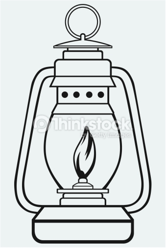 old fashioned lantern coloring pages