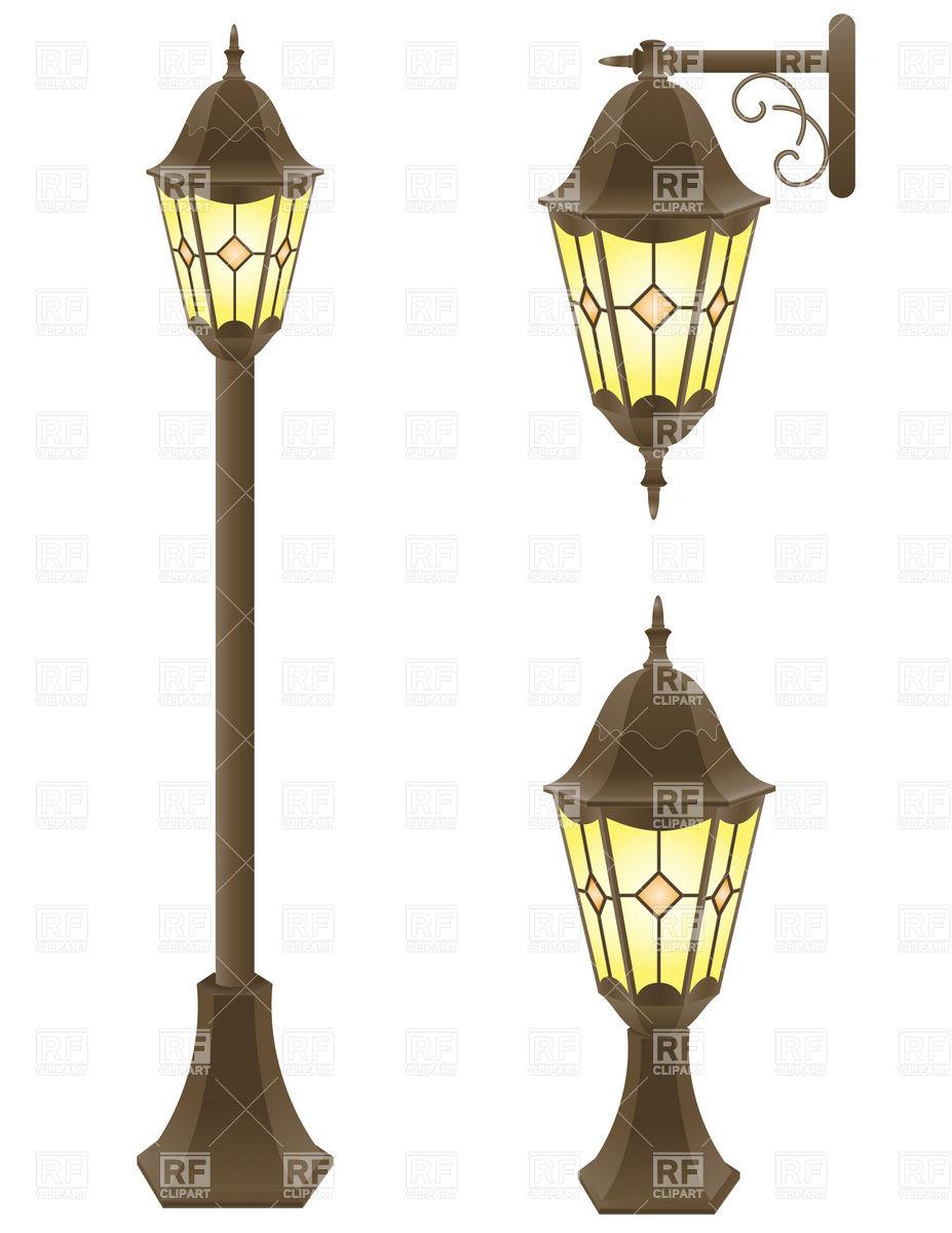 Christmas Lamp Post Clipart.