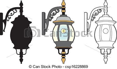 Clip Art Vector of Round lantern.
