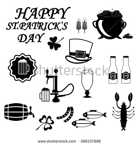Set Drawings On Theme Beer Brewing Stock Vector 390700489.