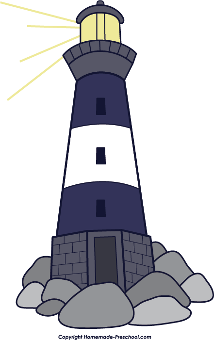 Old Lighthouse Cliparts.