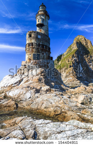 Old Lighthouse Aniva Cape Sakhalin Island Stock Foto 154404911.