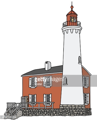 Old Lighthouse stock vectors.