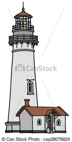 Vector Illustration of Old lighthouse.