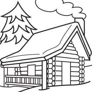 Best Stock Photo Old Log Cabin Black White Northern Minnesota.