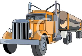 Clipart logging truck.