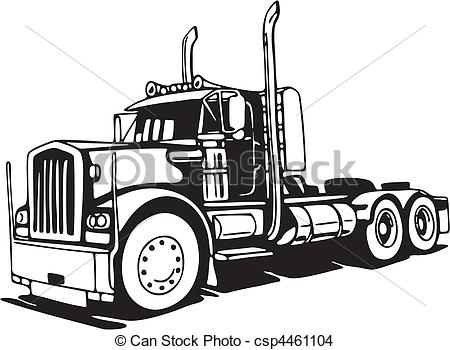 Log Truck Eps Clipart.