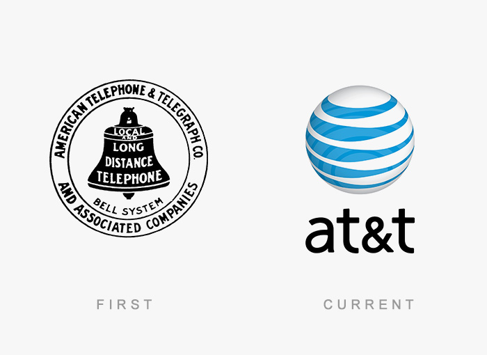 At&t old and new logo.