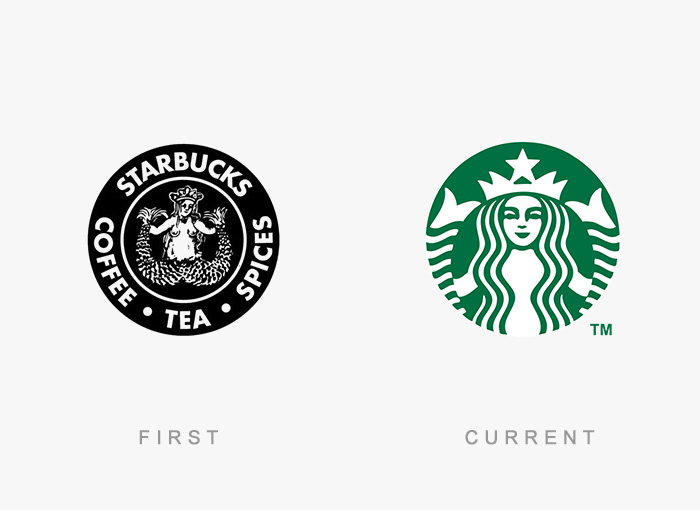 50 Famous Logos Then And Now.