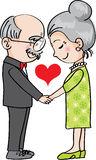 Happy Couple Holding Hands Cartoon Man Woman Love Stock Photos.