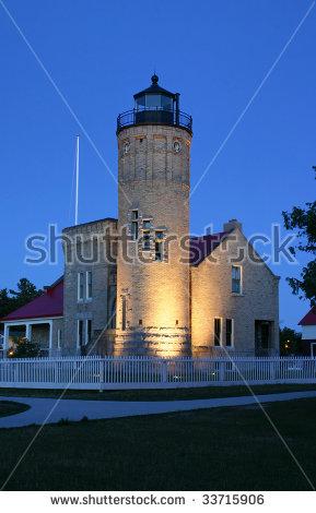Michigan City Lighthouse Stock Photos, Royalty.
