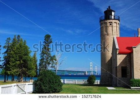 Michigan Lighthouse Stock Photos, Royalty.