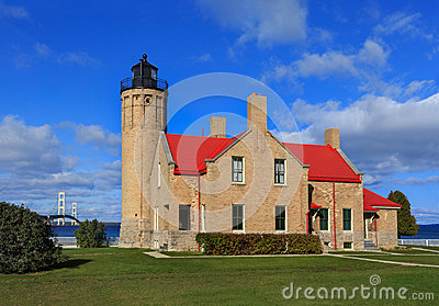 Old Mackinac Point Lighthouse Royalty Free Stock Photography.