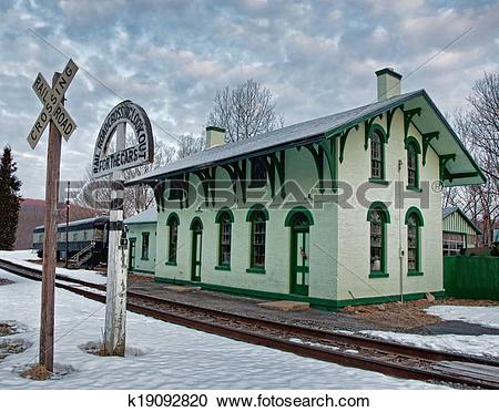 Stock Photography of old train station k19092820.