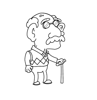 old man Coloring Pages.