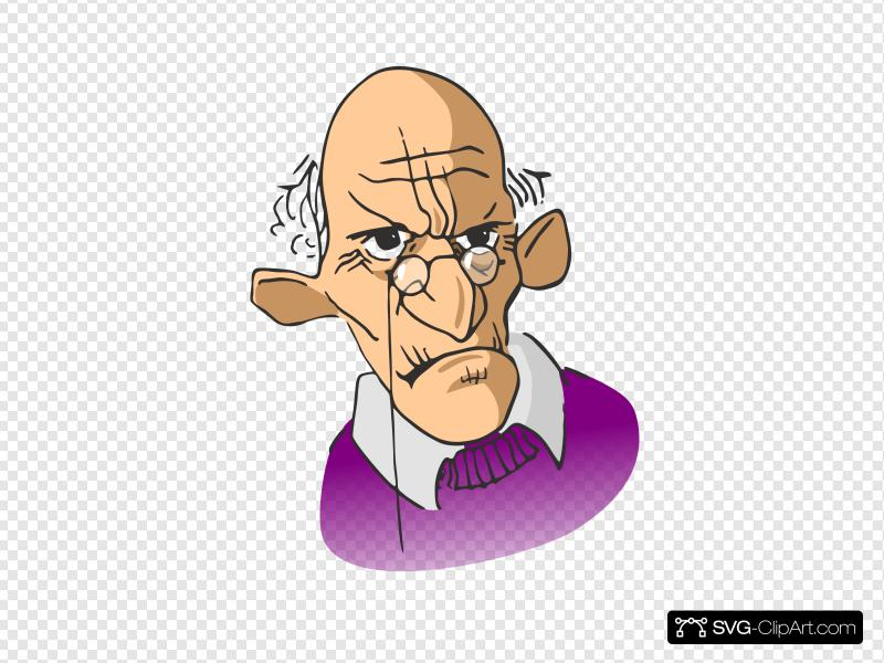 Old Man Cartoon Clip art, Icon and SVG.