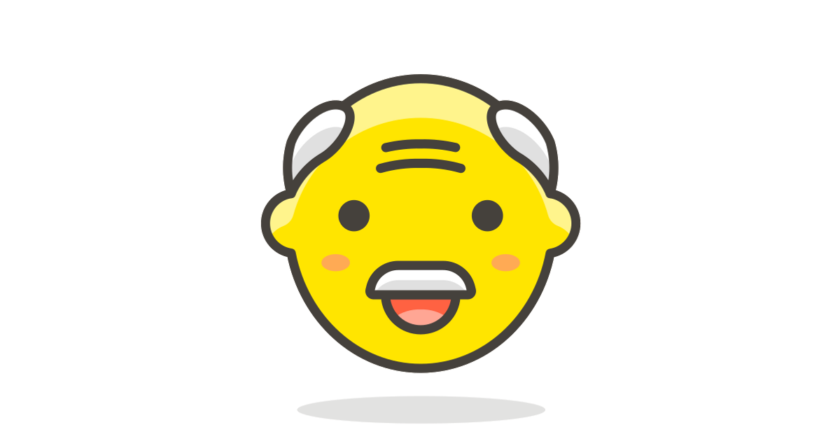 Old man 1 free vector icon.