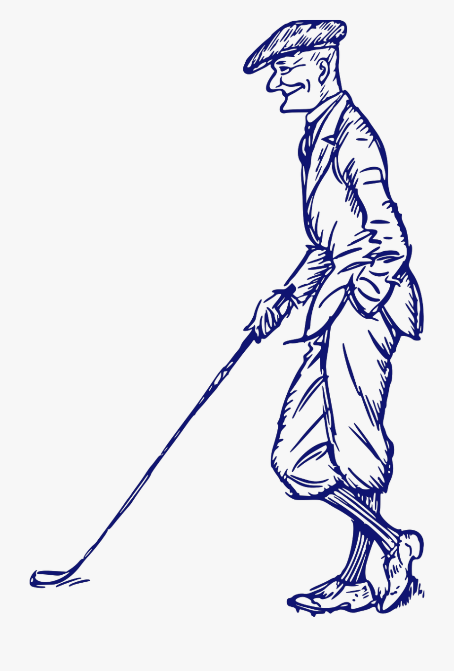 Golf Clipart Old Man.