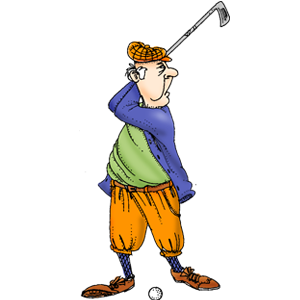 Guy Golfer. LOVE with the sayingwant to wish you Happy.
