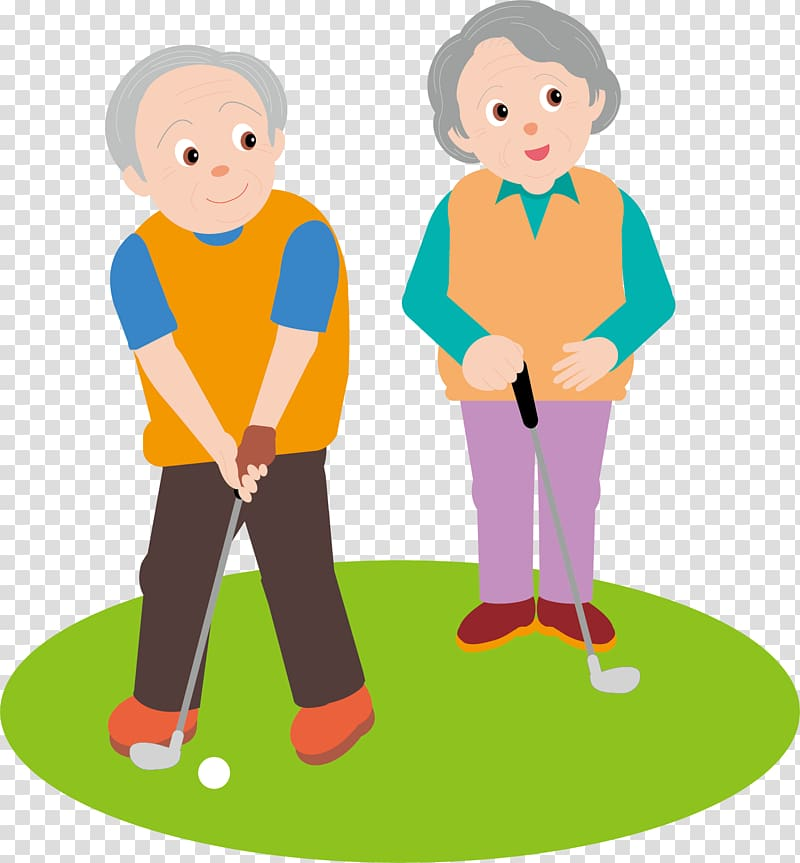 Golf Old age , play the man transparent background PNG.