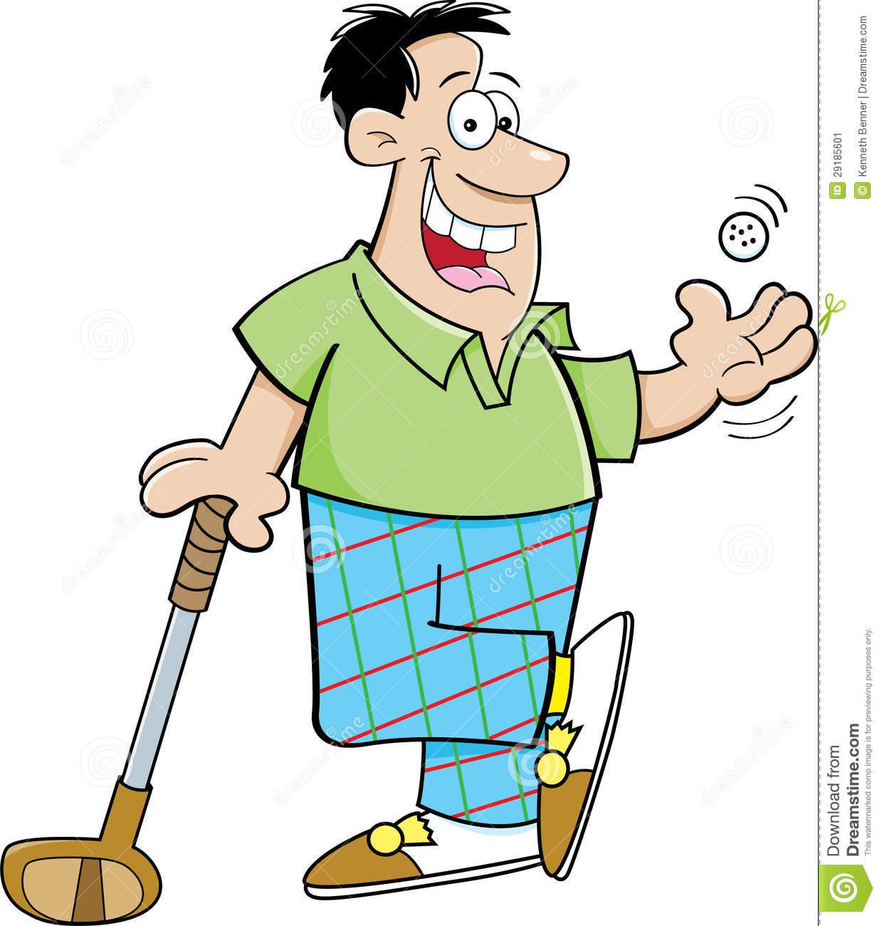 Golf Man Clipart.
