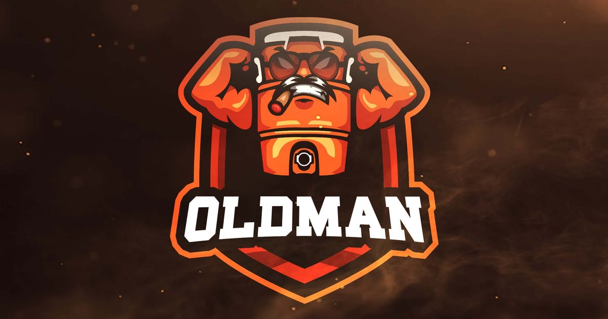 Old Man Sport and Esports Logos by ovozdigital on Envato Elements.