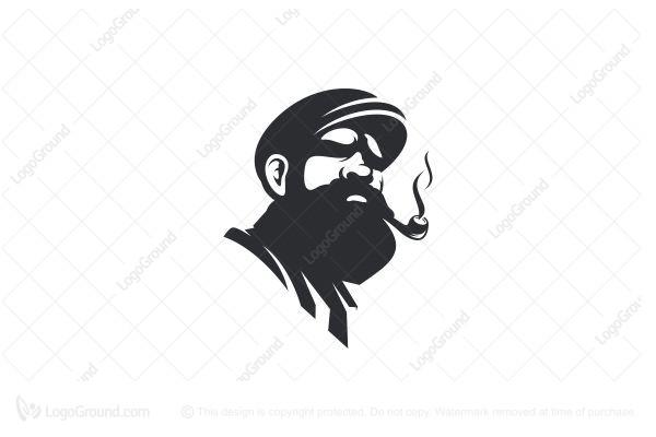 Exclusive Logo 113282, Old Man Beard Logo.
