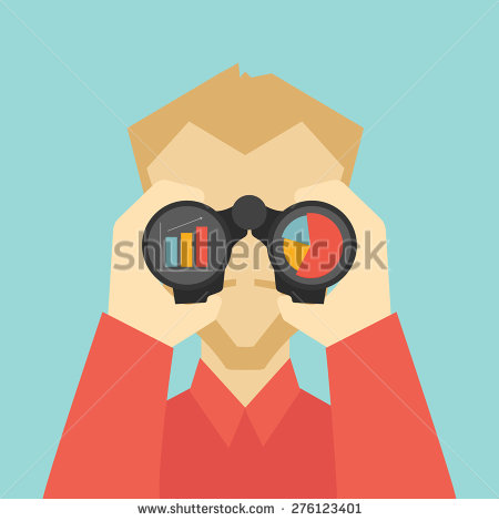 Man With Binoculars Stock Images, Royalty.