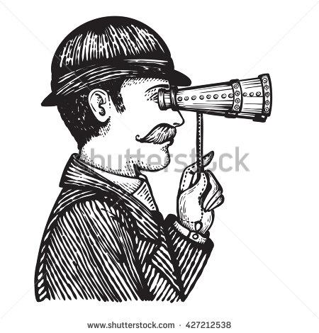 Vintage Binoculars Illustration Stock Images, Royalty.